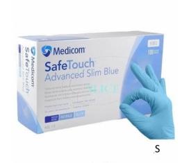Рукавички MEDICOM нітрилові без пудри сині 100 шт, S