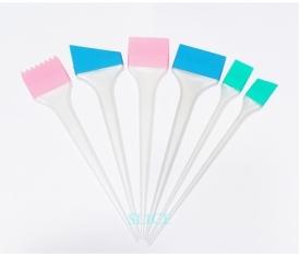 Пензлики сіліконові PROLine для фарбування волосся набір 6 шт